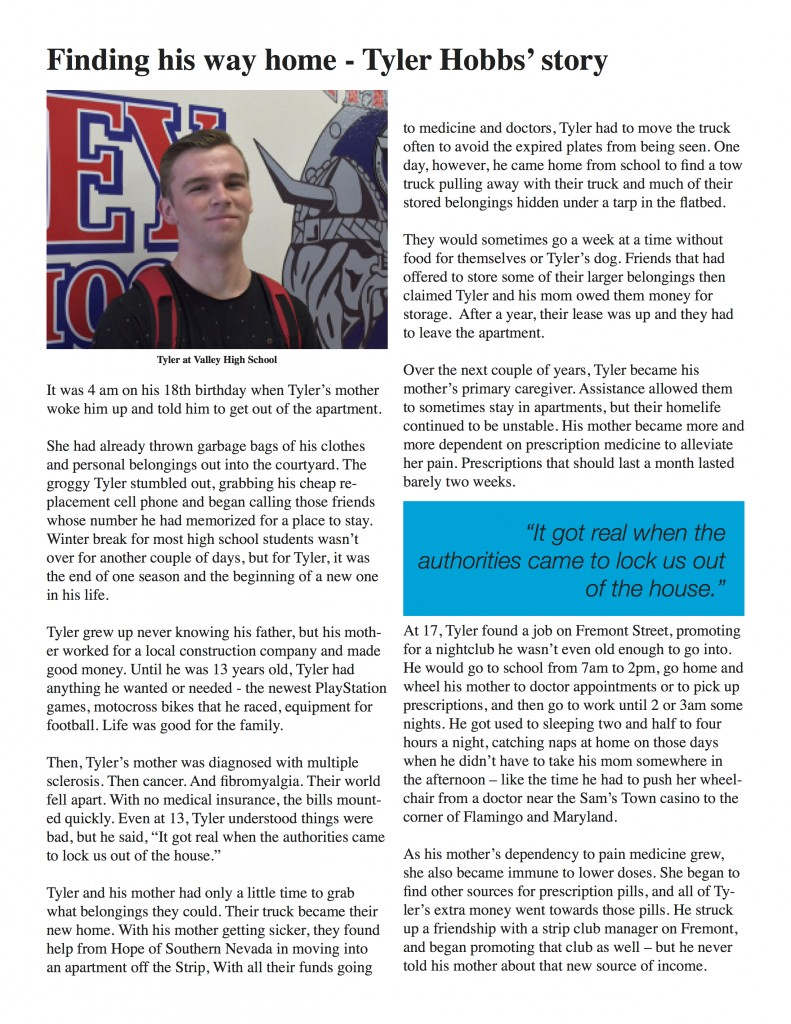 Tyler's story page 1