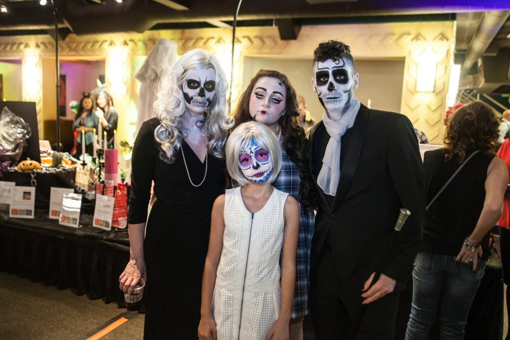 Harvest Committee Chair Ed Cecchi and his haunted family