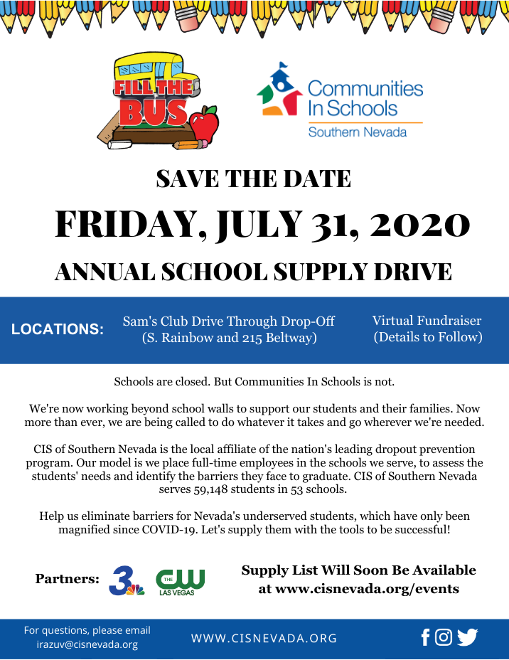 Fill the Bus 2020 SNV